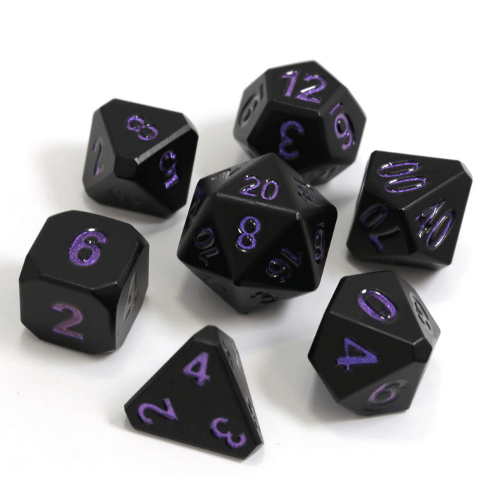 Dice 7-set Metal Forge (16mm) Nightshade