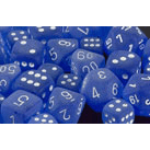 Dice 7-set Frosted (16mm) 27406 Blue / White