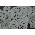 Dice 7-Set Frosted (16mm) 27401 Clear / Black