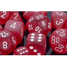 Dice 7-set Frosted (16mm) LE427 Red / White