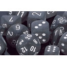 Dice 7-Set Frosted (16mm) LE431 Smoke / White