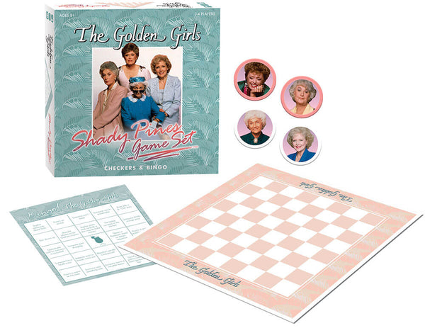 Golden Girls Shady Pines Game Set : Checkers & Bingo