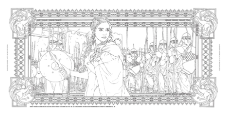 Coloring Book HBO Game of Thrones