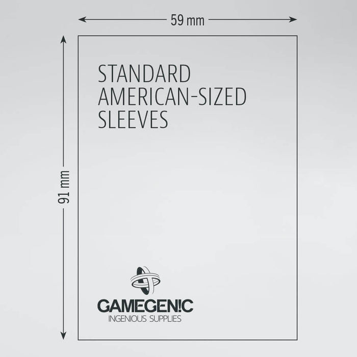 Sleeves Gamegenic Standard (Green 59x91mm 50ct) Clear