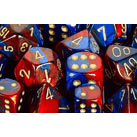 Dice 7-set Gemini (16mm) 26429 Blue Red / Gold