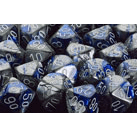 Dice 7-set Gemini (16mm) 26423 Blue Steel / White