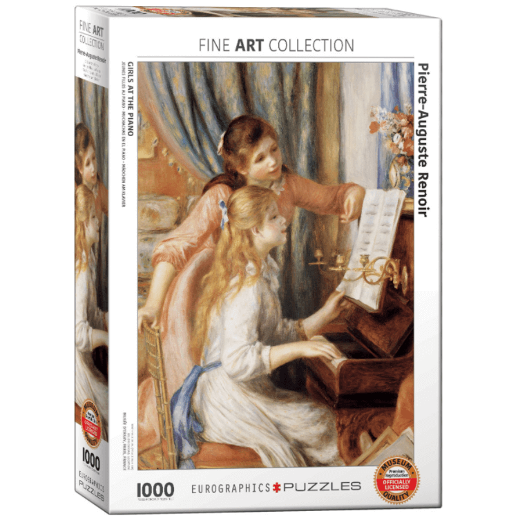 Puzzle (1000pc) Fine Art : Girls at the Piano