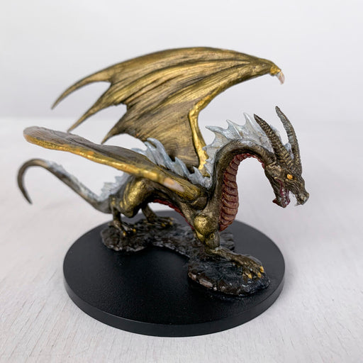 Pro Painted Miniature by Lauren Bilanko | Gold Dragon