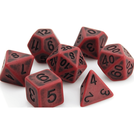 Dice 7-set Golem (16mm) Blood