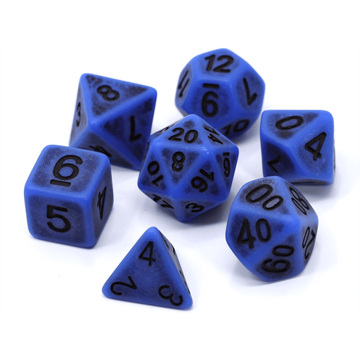 Dice 7-set Golem (16mm) Cobalt