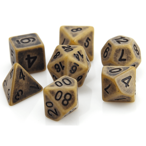 Dice 7-set Golem (16mm) Sand