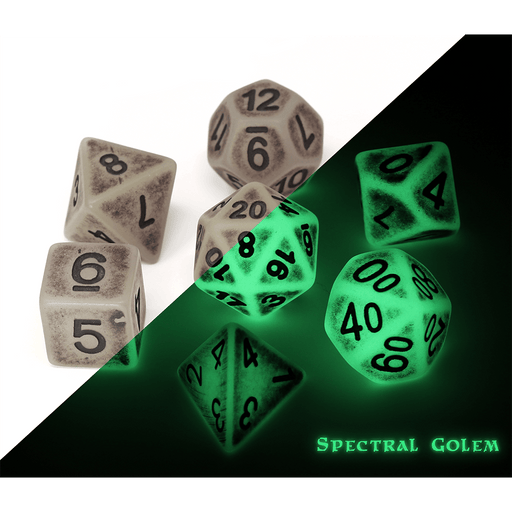 Dice 7-set Golem (16mm) Spectral