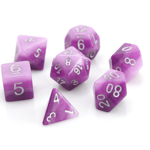 Dice 7-set Gradient (16mm) Purple