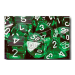 Dice Set 36d6 Translucent (12mm) 23805 Green / White
