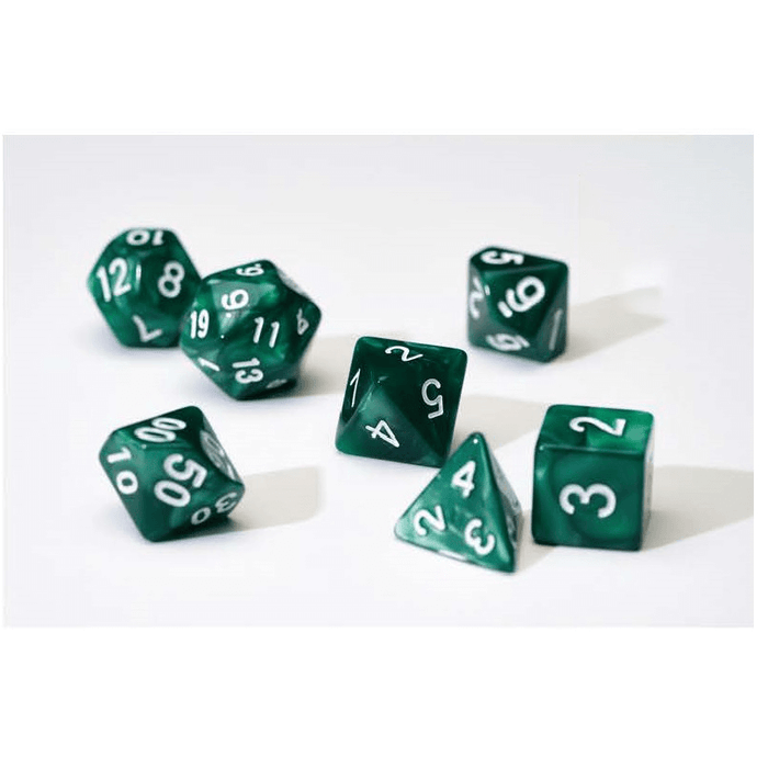 Dice 7-set Pearl (16mm) Green