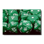 Dice Set 36d6 Opaque (12mm) 25805 Green / White
