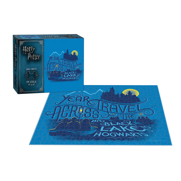 Puzzle (200pc) Harry Potter : Across the Big Black Lake to Hogwarts