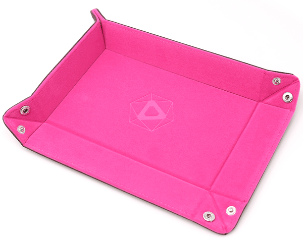 Dice Tray (8x11in) Heat Change Leather Pink / Velvet Pink
