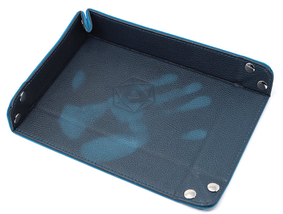 Dice Tray (8x11in) Heat Change Leather Teal / Velvet Teal