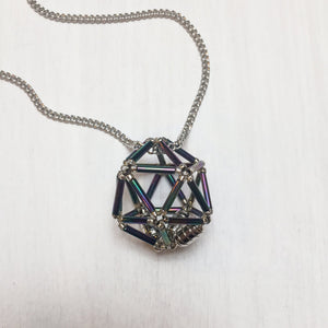 Necklace d20 Flower : Night