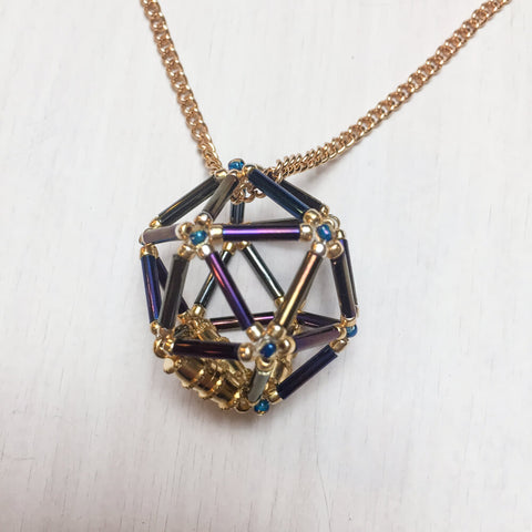 Necklace d20 Flower : Disco Ball