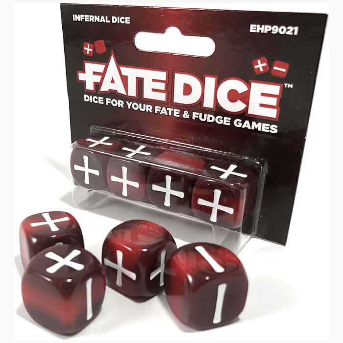 Fate Dice Set 4d6 (16mm) Infernal