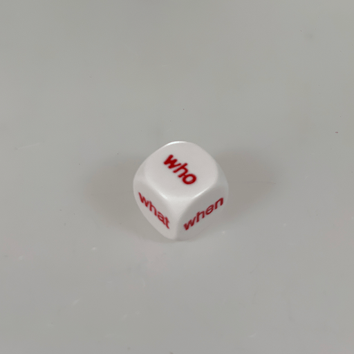 Polyhedral Dice d6 (16mm) Interrogative