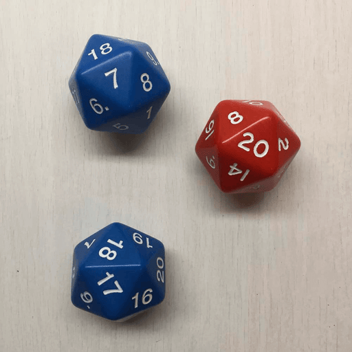 Polyhedral Dice d20 Spindown (30mm) Assorted