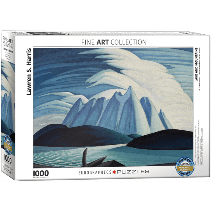Puzzle (1000pc) Fine Art : Lake and Mountains