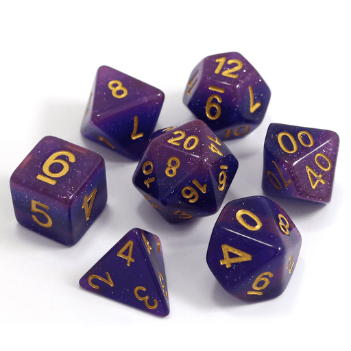 Dice 7-Set (16mm) Lavender Galaxy