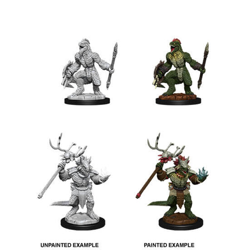 Mini - D&D Nolzur's Marvelous : Lizardfolk Fighter & Shaman
