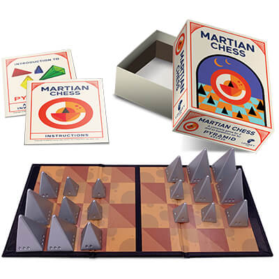 Looney Pyramids Martian Chess (Silver)