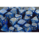 Dice 7-set Lustrous (16mm) 27496 Dark Blue / Green