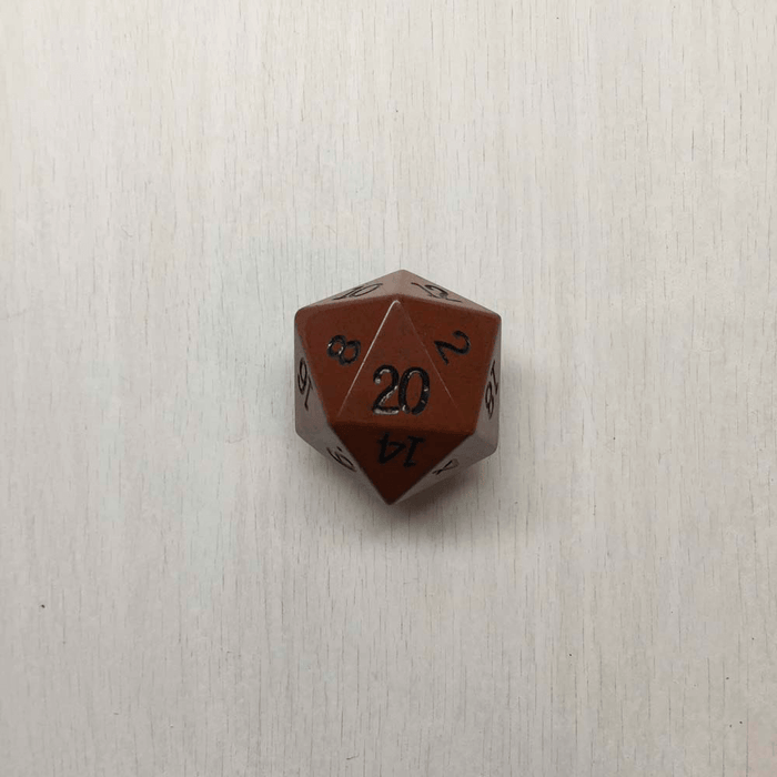 Polyhedral Dice d20 Luxury (35mm) Assorted Metal or Stone