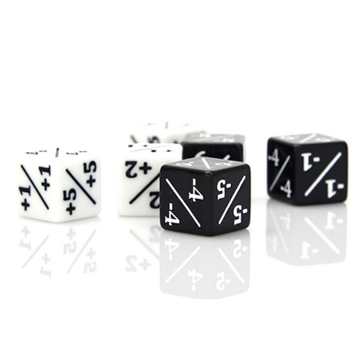 Dice Set 6d6 MTG (16mm) Power/Toughness Counters