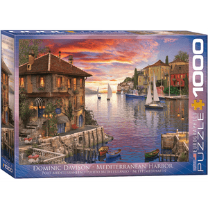 Puzzle (1000pc) Artist Series : Mediterranean Harbor