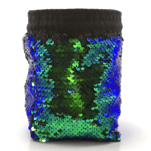 Dice Bag Sequined (4x4x6in) Mermaid Iridescent