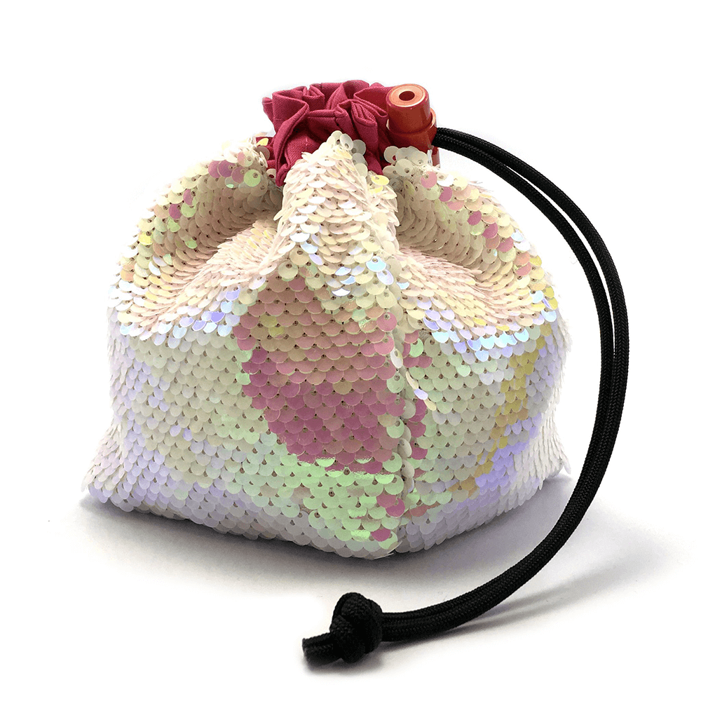 Dice Bag Sequined (4x4x6in) Mermaid Opalescent