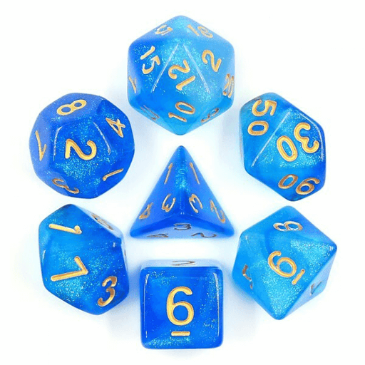 Dice 7-Set (16mm) Mermaid's Crown