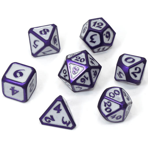 Dice 7-set Metal Mythica (16mm) Gemstone Celestial Harbinger