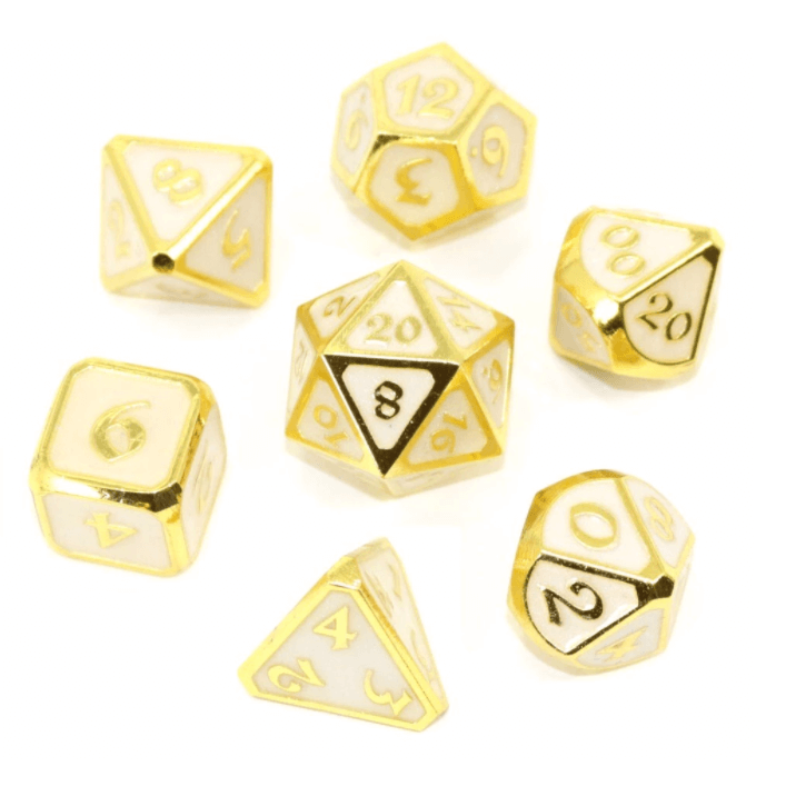 Dice 7-set Metal Mythica (16mm) Celestial Relic