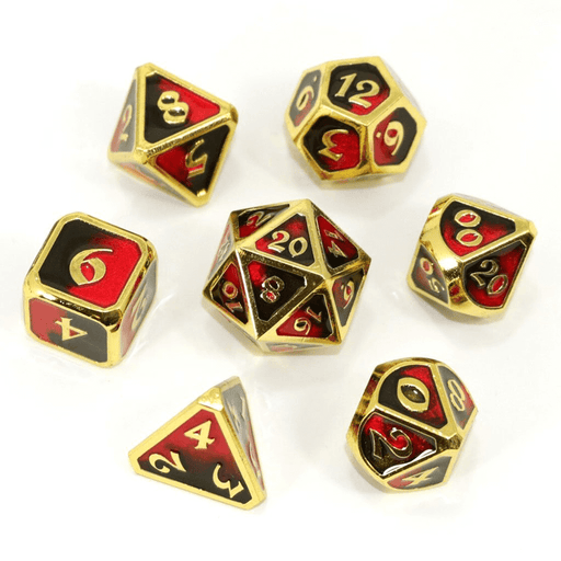 Dice 7-set Metal Mythica (16mm) Dark Arts Bloodbath