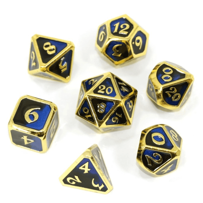 Dice 7-set Metal Mythica (16mm) Dark Arts Undertow