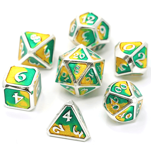 Dice 7-set Metal Spellbinder (16mm) Basilisk