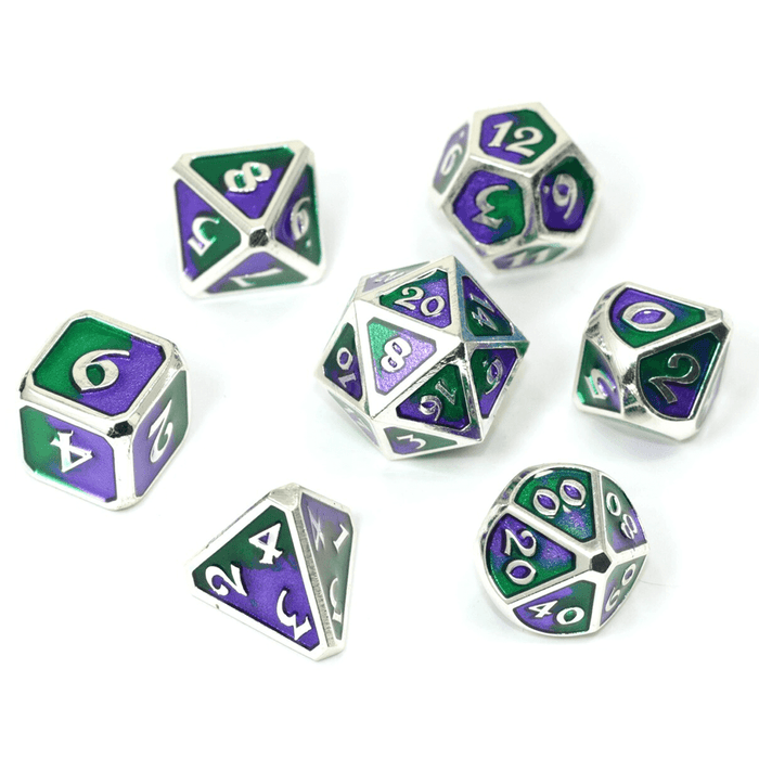 Dice 7-set Metal Mythica (16mm) Spellbinder Jokester