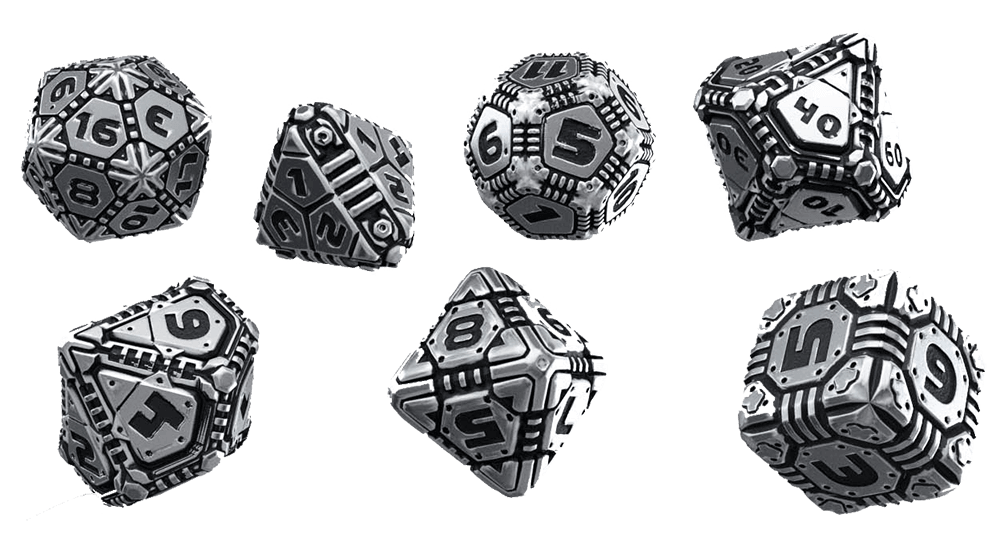 Dice 7-set Metal (16mm) Tech