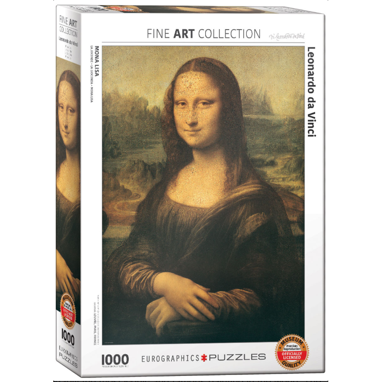 Puzzle (1000pc) Fine Art : Mona Lisa