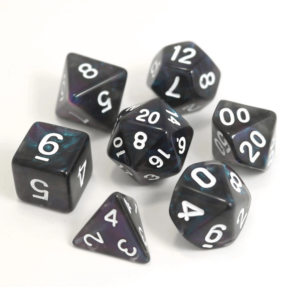 Dice 7-Set Moonstone (16mm) Dreamwalker