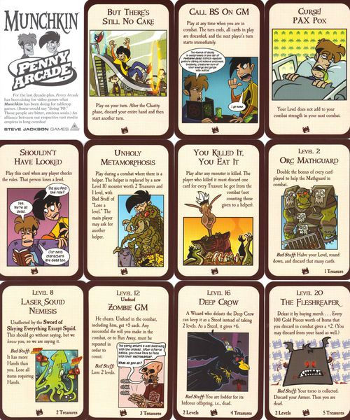 Munchkin Booster : Penny Arcade
