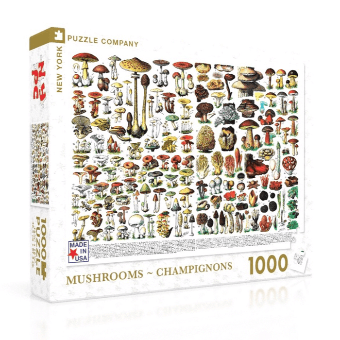 Puzzle (1000pc) Vintage : Mushrooms - Champignons